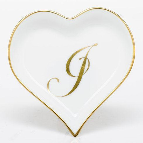 Decorative Dishes Heart Tray with Monogram - Multicolor [HERHRD-LINOR607703-0-J]