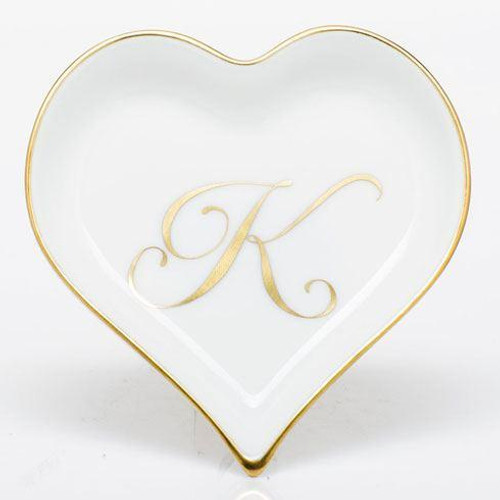 Decorative Dishes Heart Tray with Monogram - Multicolor [HERHRD-LINOR607703-0-K]