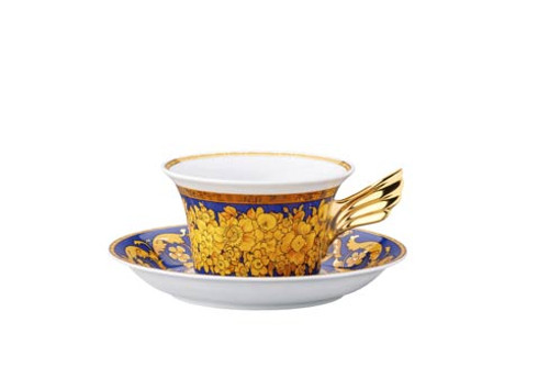 25 Years Floralia Blue Tea Cup & Saucer