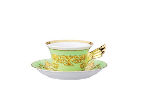 25 Years Green Floralia Tea Cup & Saucer