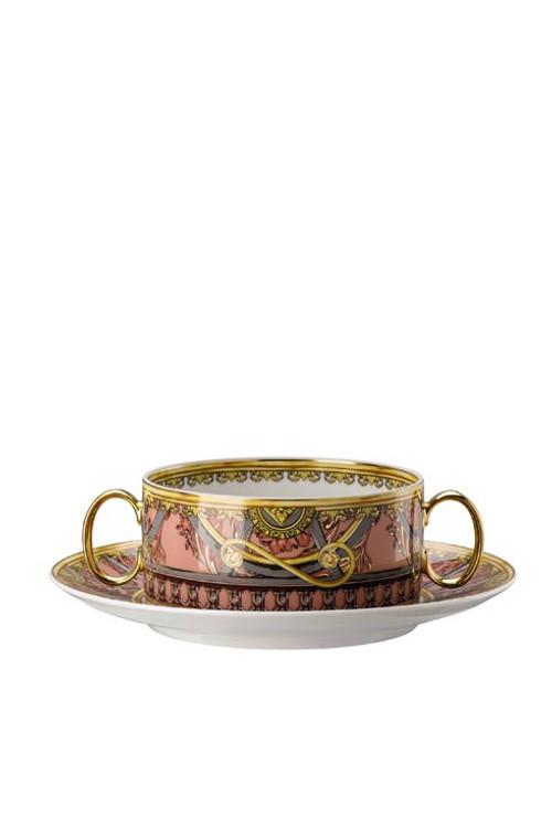 La Scala del Palazzo Rosa Cream Soup Cup & Saucer