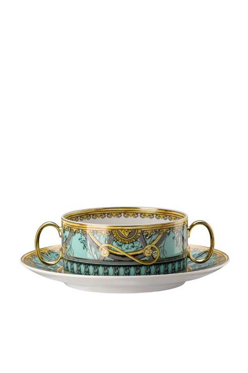 La Scala del Palazzo Verde Cream Soup Cup & Saucer