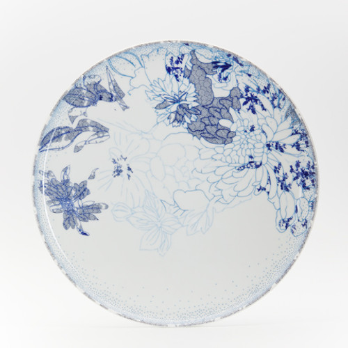 Coupe Rêve Bleu Round cake platter