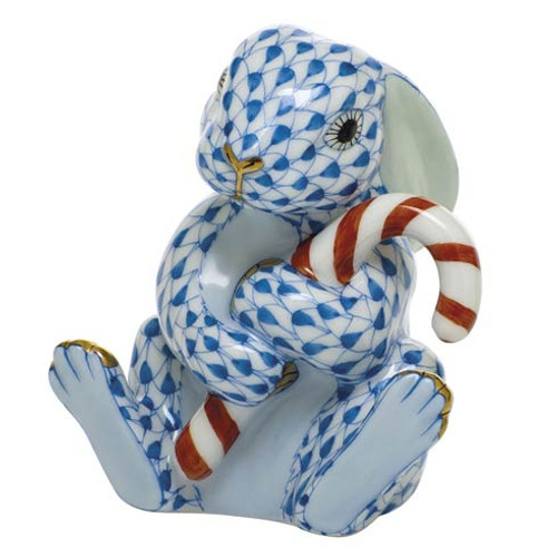 Bunnies Candy Cane Bunny-Blue