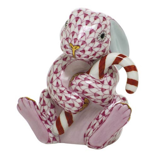 Bunnies Candy Cane Bunny-Raspberry