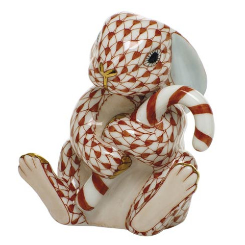 Bunnies Candy Cane Bunny-Rust
