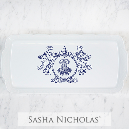 Hart-Lause WEDDING HOSTESS PLATTER WITH FLEUR DE LIS CREST