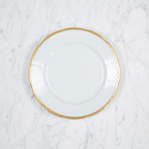 Clote-Wood WEAVE SIMPLY WHITE 24K GOLD SALAD PLATE