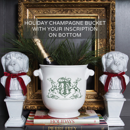 Gilbride-Teague WEDDING HOLIDAY CHAMPAGNE BUCKET WITH OPTIONAL INSCRIPTION ON BOTTOM