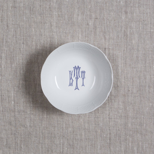 Gilbride-Teague WEDDING MONOGRAMMED WEAVE PETITE BOWL