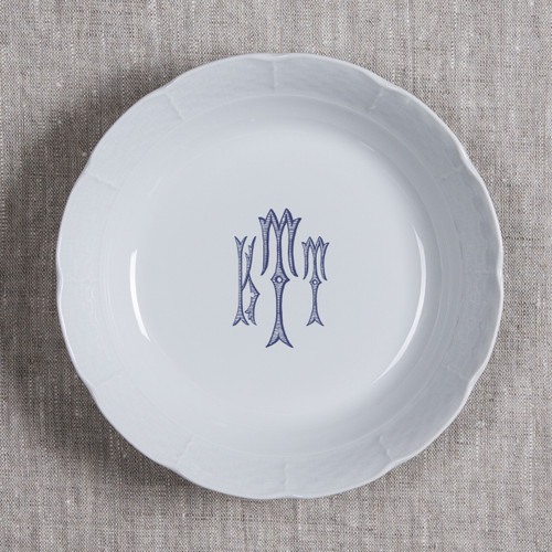Gilbride-Teague WEDDING WEAVE MONOGRAMMED CEREAL BOWL