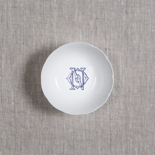 ANDERSON-O'NEIL WEDDING MONOGRAMMED WEAVE PETITE BOWL