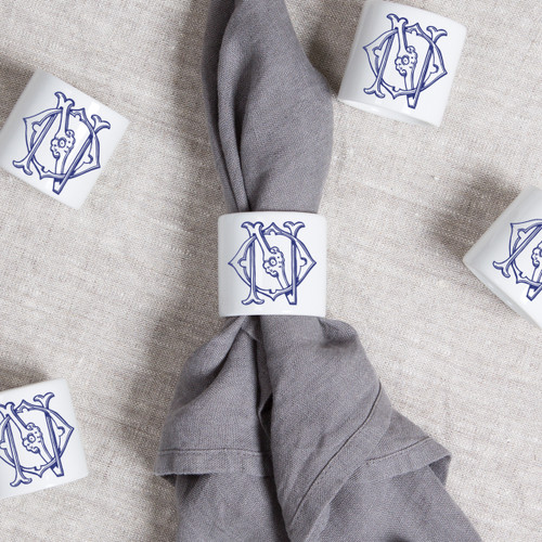 ANDERSON-O'NEIL WEDDING MONOGRAMMED NAPKIN RINGS