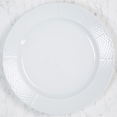 """WATSON - ELLIOTTE WEDDING WEAVE SIMPLY WHITE 12"""" CHARGER"""