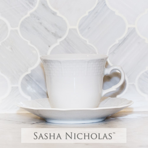 Yeung-Shivers WEAVE SIMPLY WHITE CUP+SAUCER