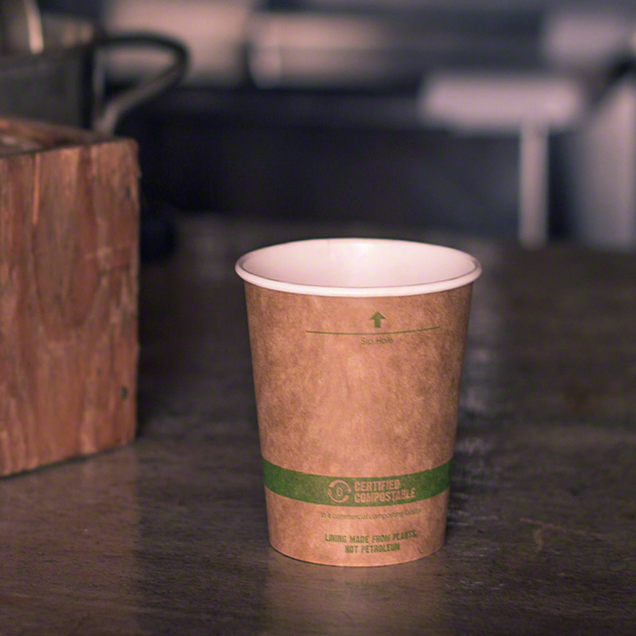 10 Oz Kraft Paper Cups Compole Hot Coffee 1000 Count