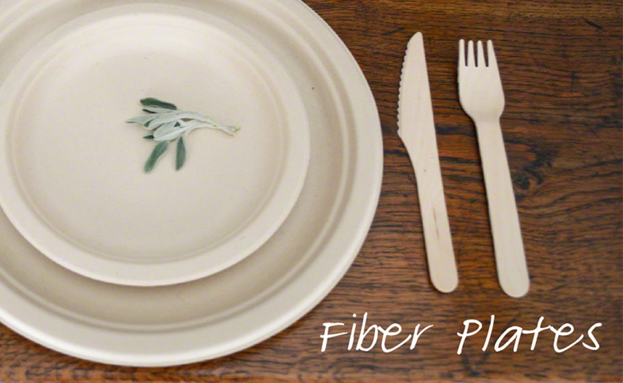 Fiber Tableware : recycled plates disposable - pezcame.com