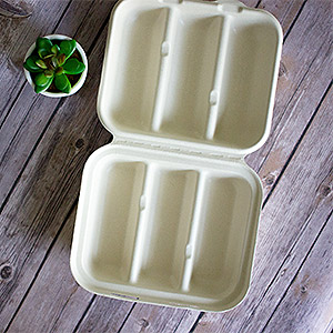 Compostable Fiber Taco Container