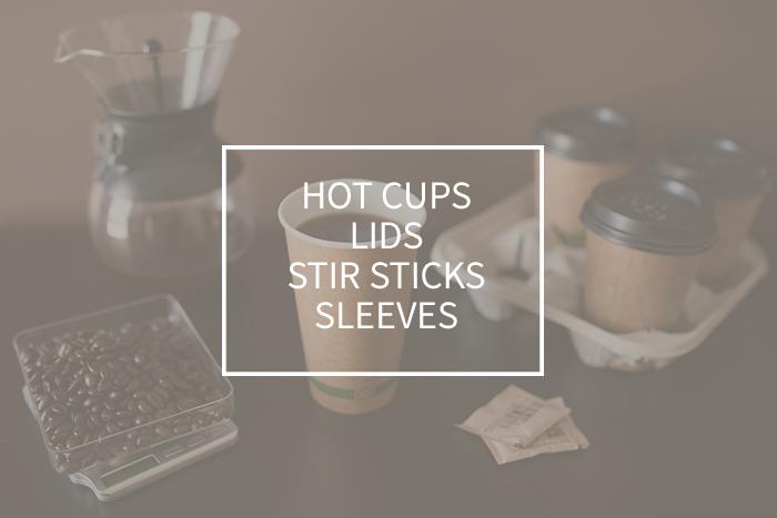 Hot Cups, Lids, Stir Sticks & Sleeves