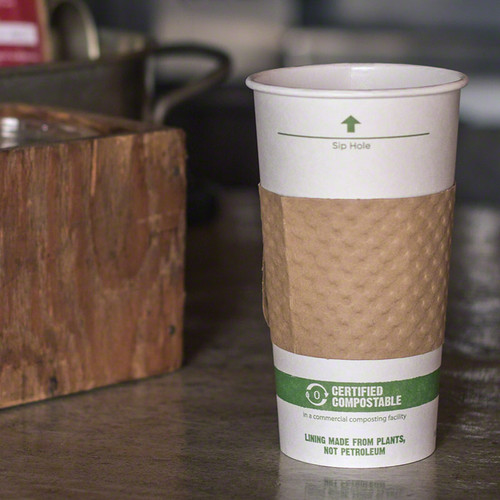Biodegradable Coffee Cups Compostable White Paper Hot