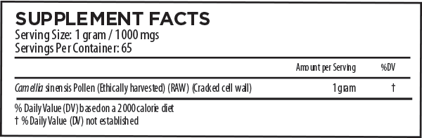 Green Tea Pollen Supplement Facts