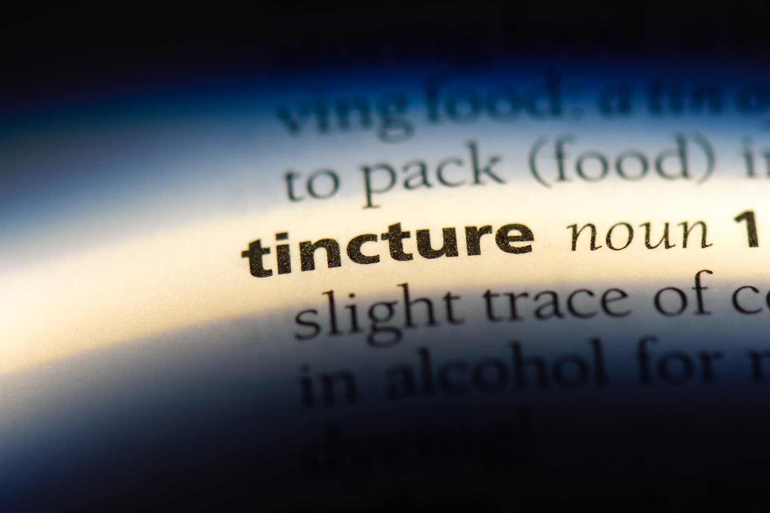 Tincture Dictionary Definition