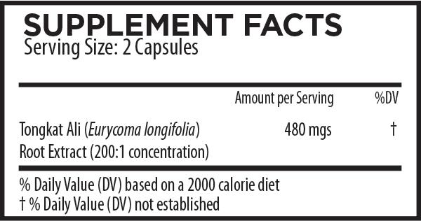 Tongkat Ali Capsules Supplement Facts