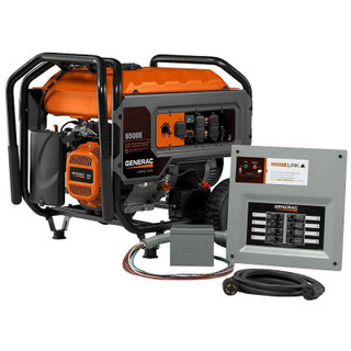 Generac 6865 Homelink 6500E Portable Generator w/Upgradeable MTS