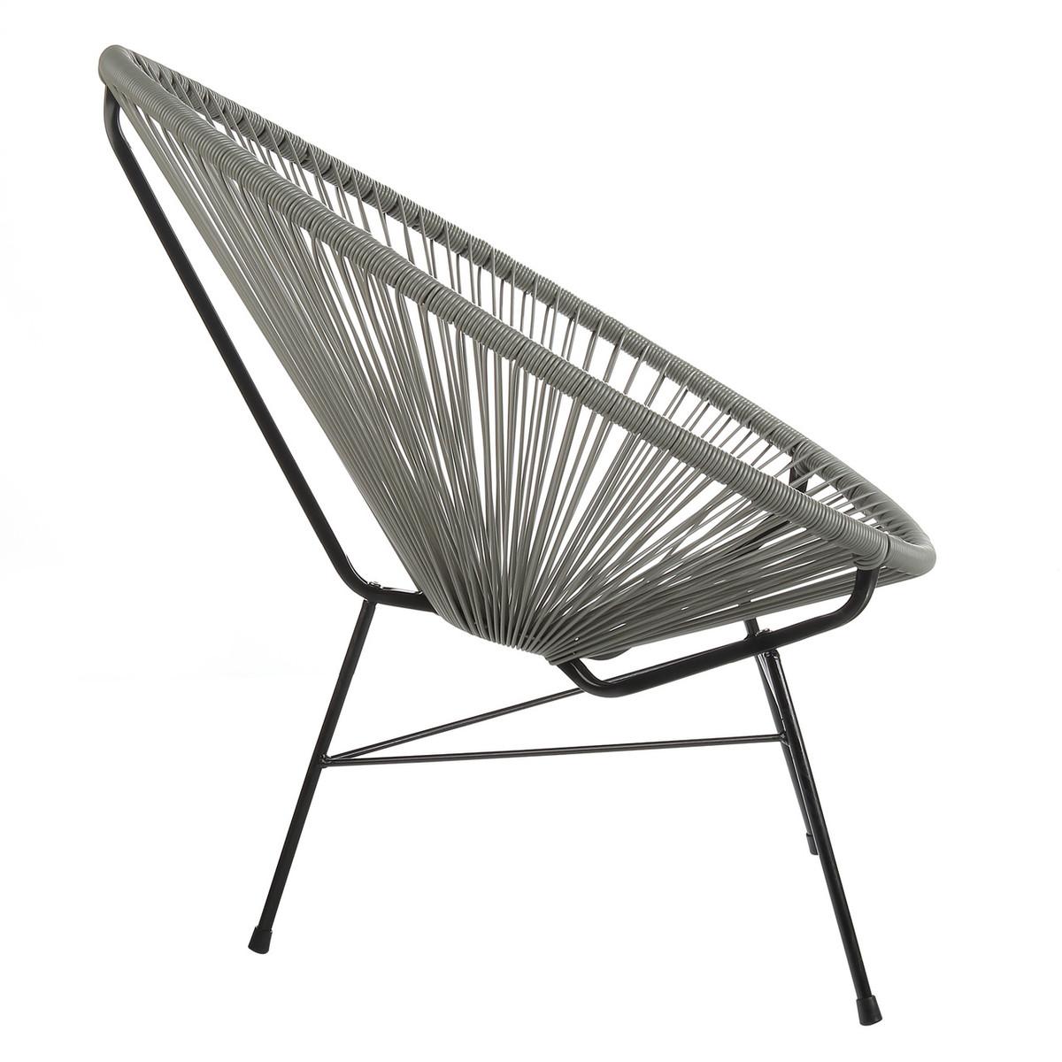 Acapulco Lounge Chair   Grey