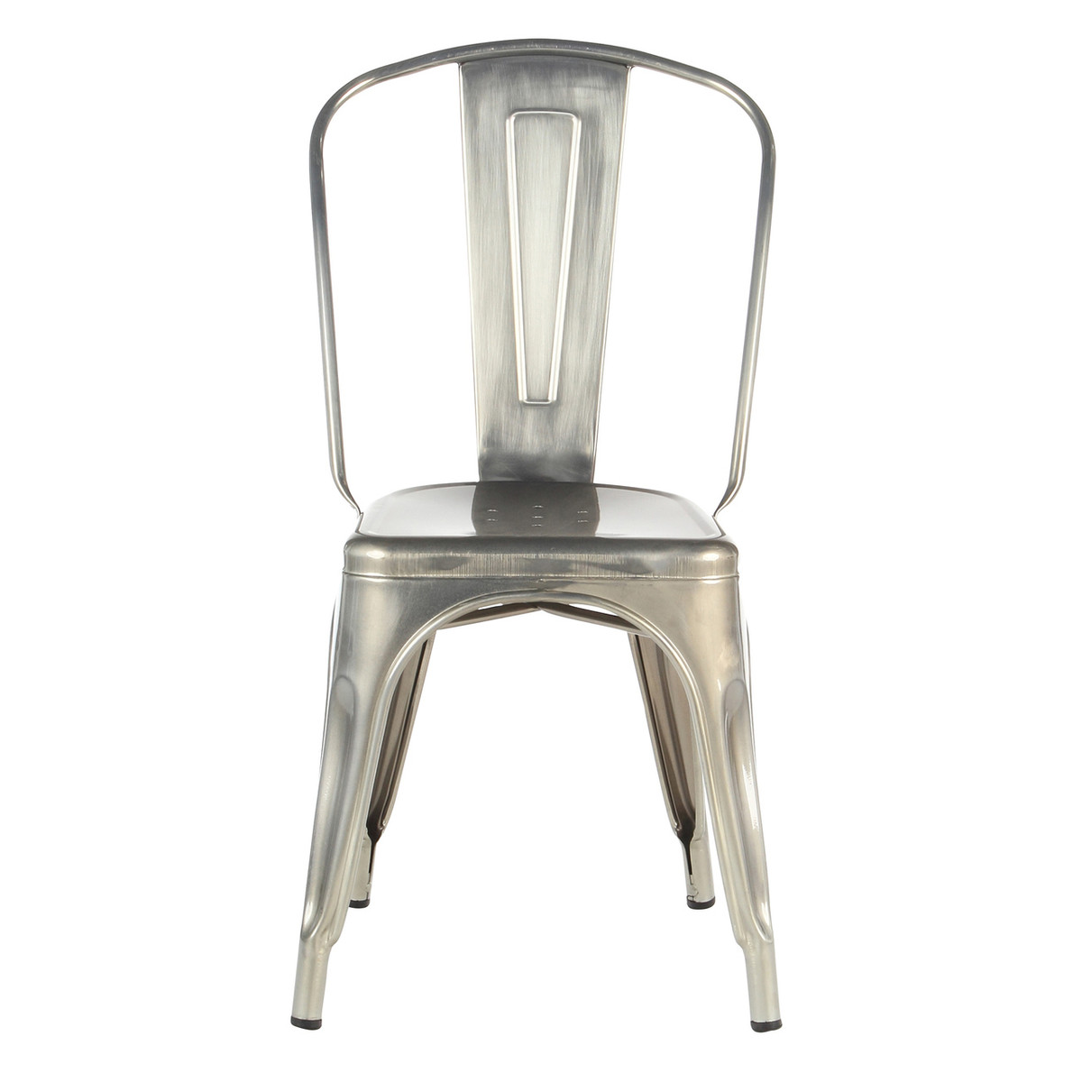 metal industrial cafe dining chair in brushed steel by joseph allen home