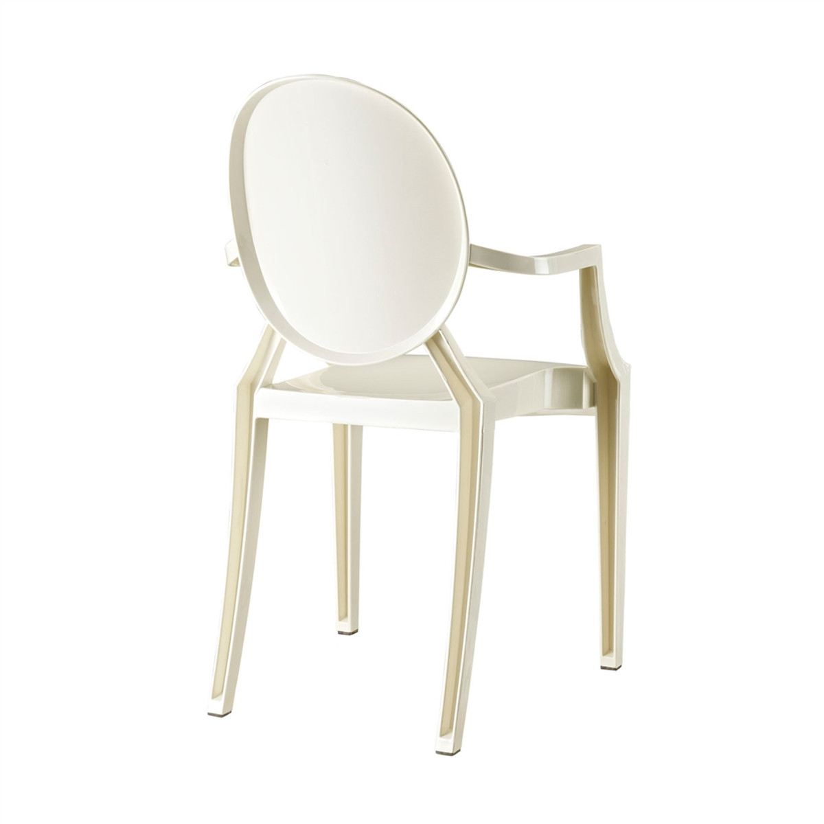 ... Sophia Ghost Arm Chair   White