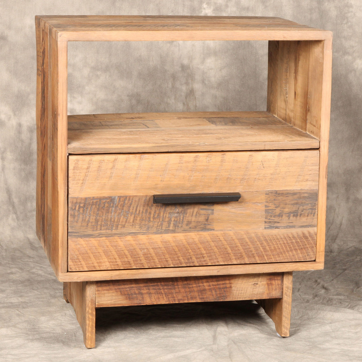 Angora reclaimed wood 1 drawer end table