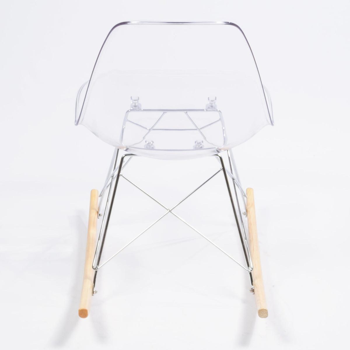 clear acrylic eames rocking chair replica austin furniture warehouse