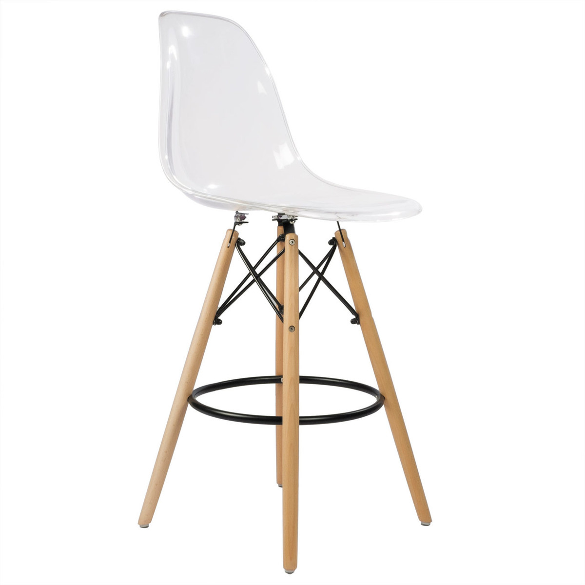 charles eames style dsw counter stool 26 clear acrylic