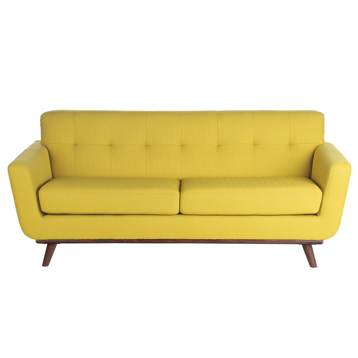 Wohndesign Software: Retro 3 Seater Sofa In Yellow