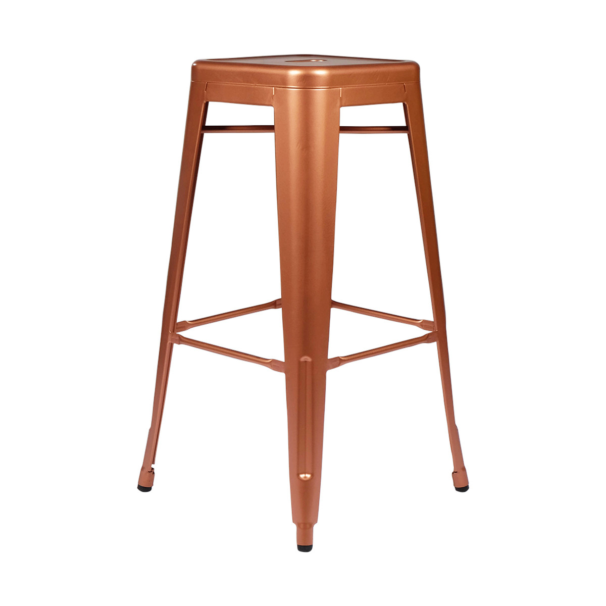 metal tolix style counter height bar stool copper