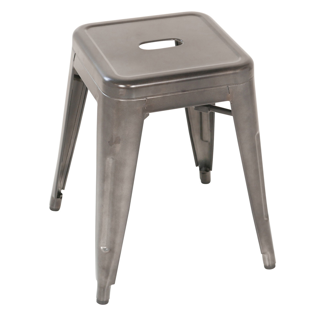 distressed industrial furniture. Metal 18 Inch Stool - Industrial Distressed Gun Furniture W