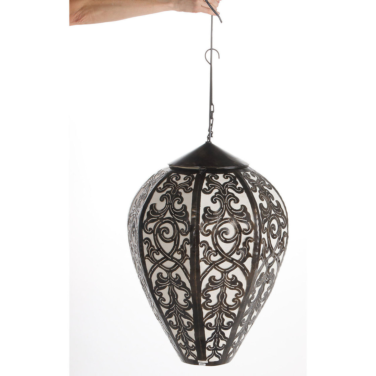 Hanging Oriental Steel Lamp, Large (PV-L-OR-01