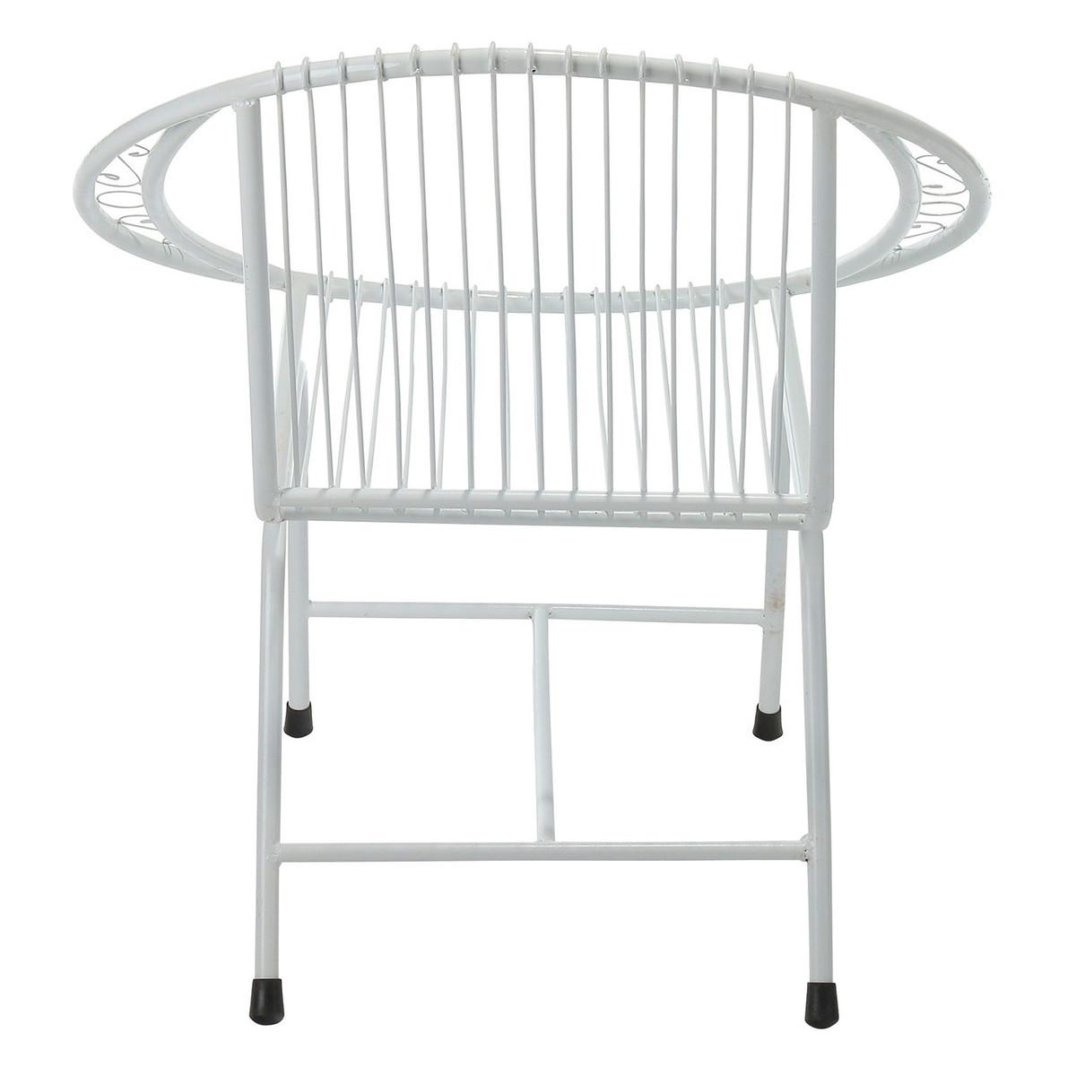 Veranda Metal Wire Chair, White Filigree (JA-CH-VRD-WF