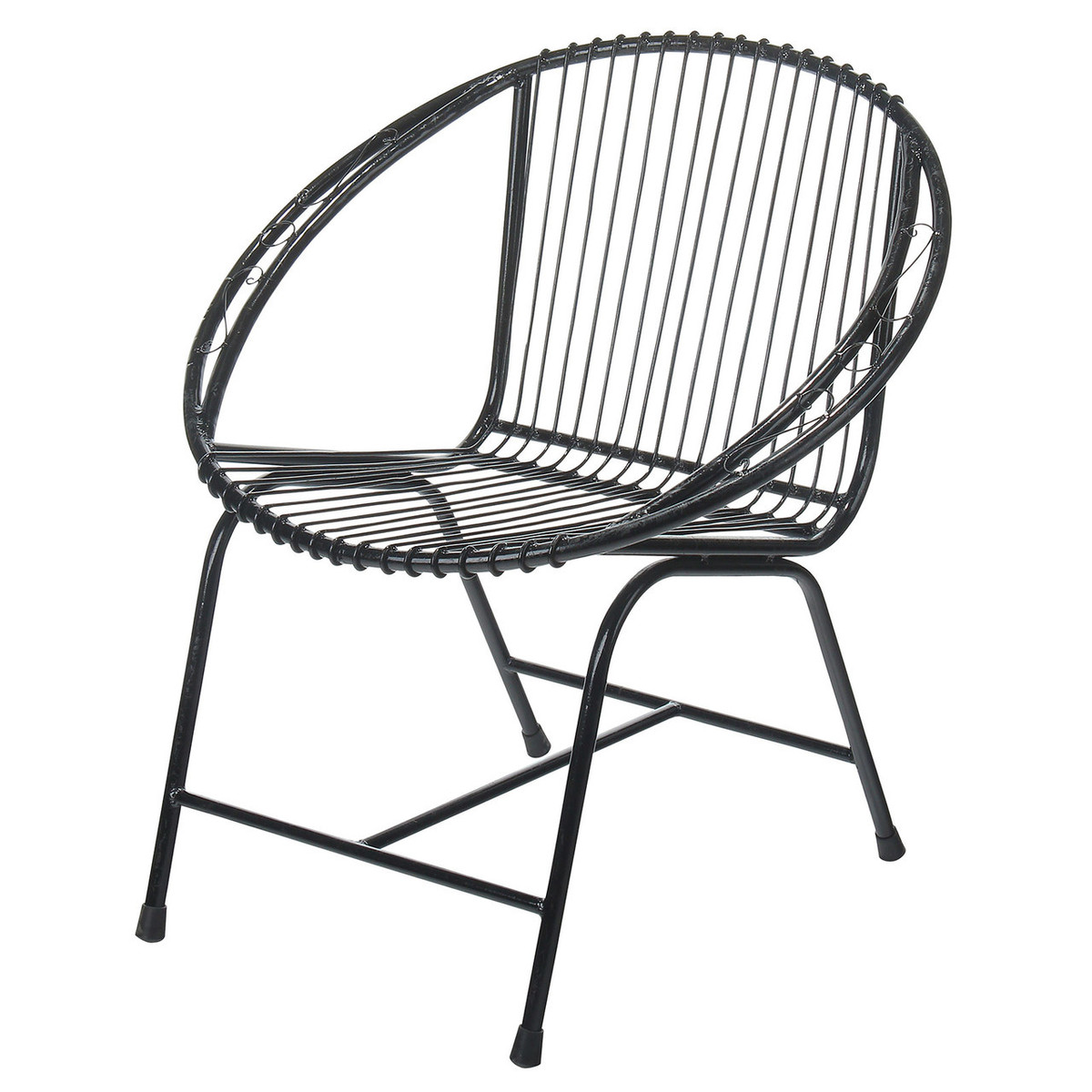 Veranda Metal Wire Chair, Black Filigree (JA-CH-VRD-BF) - Joseph Allen