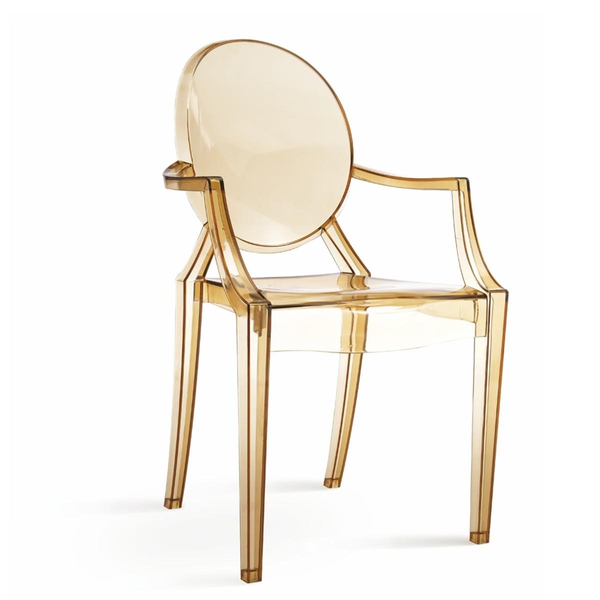 Sophia Ghost Arm Chair   Amber