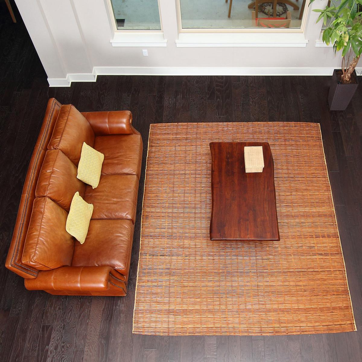 brick rug a environmental cobblestone mahogany bamboo rugs