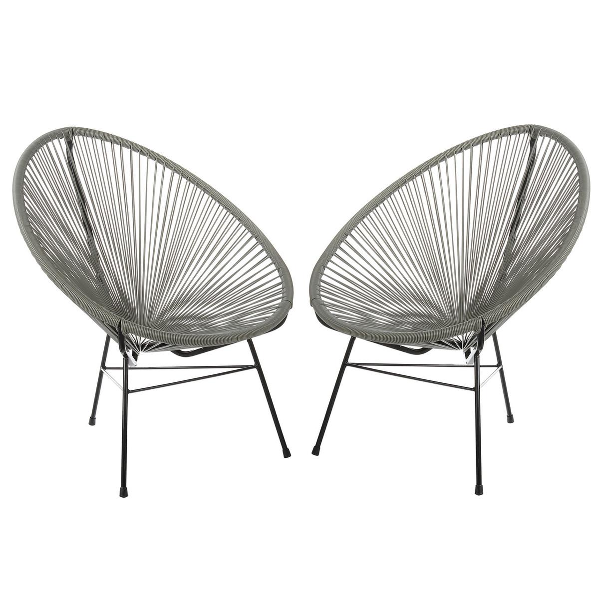 Genial Acapulco Lounge Chair   Grey, Set Of 2