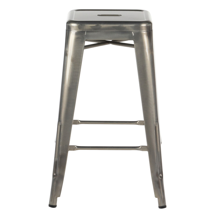 distressed metal furniture. Metal Counter Stool - Silver Industrial Distressed Furniture