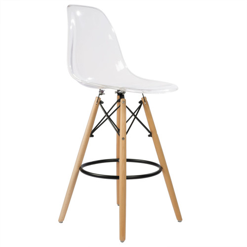 Charles Eames Style Dsw Counter Stool 26 Quot Clear Acrylic