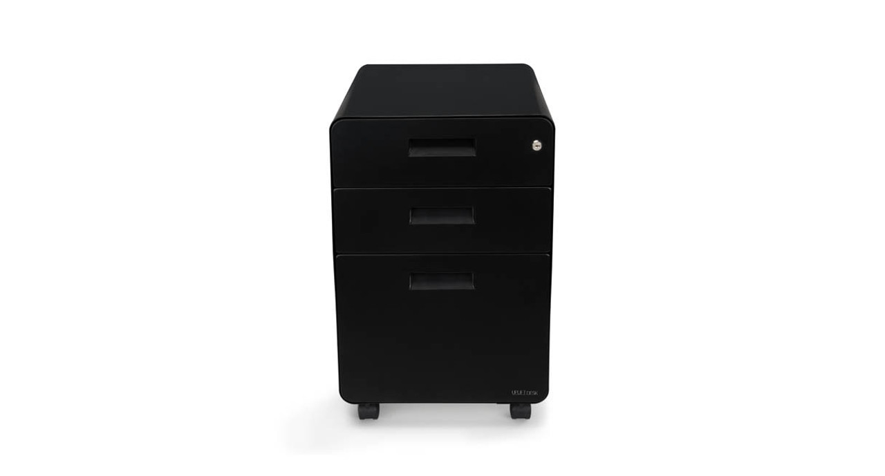 The 3-Drawer File Cabinet lets you store and secure your personal items in a portable cabinet  sc 1 st  UPLIFT Desk & 3-Drawer File Cabinet Rolling | UPLIFT Desk