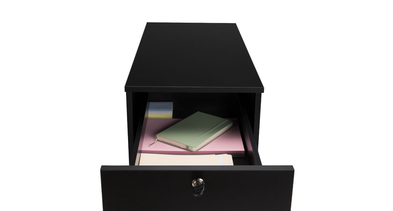 Thereu0027s Plenty Of Room On The Slide Out Office Storage Cabinetu0027s Upper  Shelf For Smaller Items