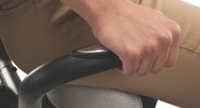 Keep track of your vitals like your heart rate by gripping the handles on the sides of the bike