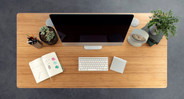 Pick the desktop that takes your style up a few notches (rectangular bamboo desktop shown here)