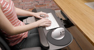 Work in postures that are beneficial for your body. A keyboard tray encourages you to type and mouse in the proper posture